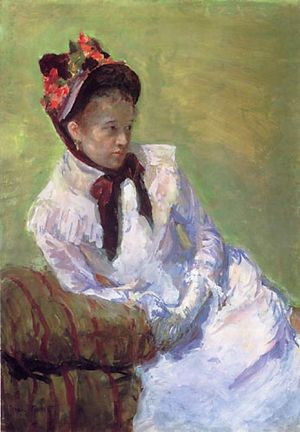 Mary Cassatt Self-portrait, c. 1878, gouache o...