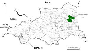 Català: Perpinyà al departament dels Pirineus ...