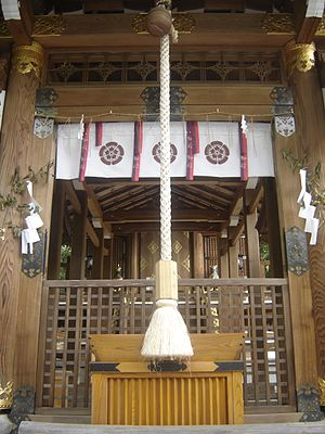 One of the many small shrines in the Imamiya S...