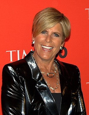 Writer and TV finance expert Suze Orman at the...