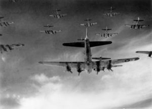 B-17 group in formation