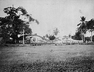 Nederlands: Foto. Chinese graven op Tanah Aban...