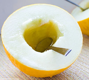 Canary melon is a large, bright-yellow melon w...