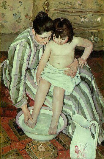 Mary Cassatt (1844–1926), The Bath Oil on canv...