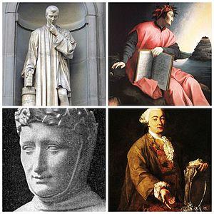 Italiano: Collage di quattro foto su pittori i...