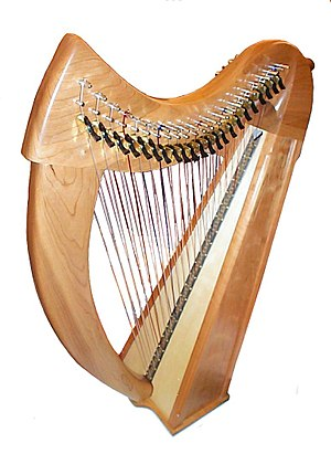 Stoney End Brittany Double-Strung Lap Harp in ...