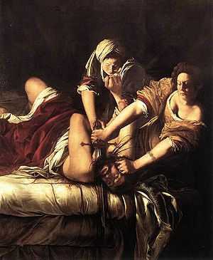 Judith Beheading Holofernes, Oil on canvas, 19...