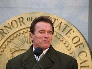 Governor Arnold Schwarzenegger.