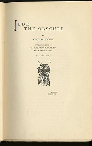 original title page of Jude the Obscure by Tho...