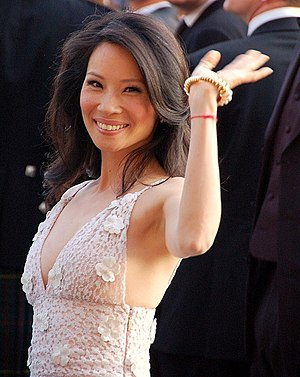 English: Lucy Liu at the Cannes film festival ...