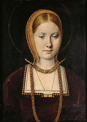 Young Catherine of Aragon, first wife of Henry...