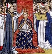Sacre de Philippe III le Hardi,  Grandes Chroniques de France, XIVe‑XVesiècle