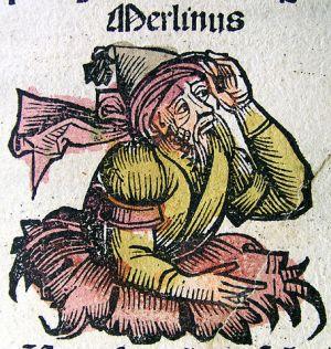 Merlín en un códice