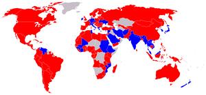 Ratifiers of the UN anti corruption treaty