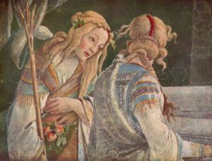 Zipporah (left) from Botticelli's Trial of Moses.
