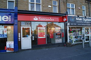 English: A branch of Santander (formerly Abbey...