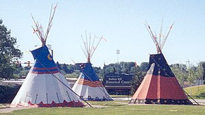 Tipis outside the Buffalo Bill Historical Cent...