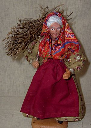 English: Traditional Kitchen Witch Doll or Hea...
