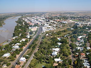 Aerial view of Upington's Central Business Dis...