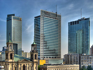 English: Warsaw Downtown skyline