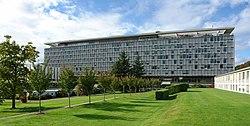 Edificio sede de la Organización Mundial de la Salud, Ginebra, Suiza.