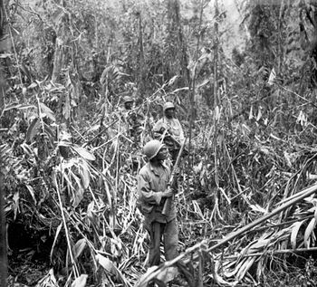 English: May 1, 1944. Members of the US 93rd (...