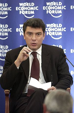 English: Boris Nemtsov at the World Economic F...