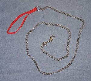 English: Chain leash