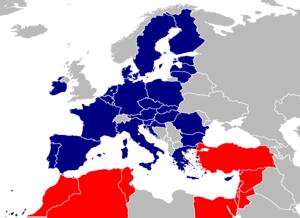 de: Mitgliedsstaaten der Euro-mediterranen Par...