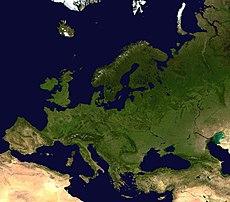 Una imagen satelital de Europa