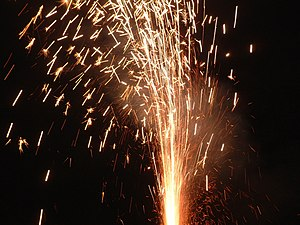 A Roman Candle set off on Bonfire Night