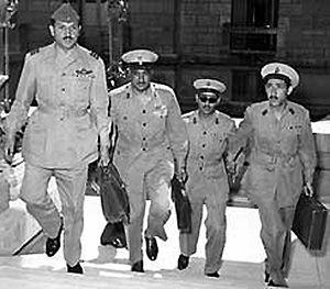 Abdel Latif Boghdadi (left) Gamal Abdel Nasser...
