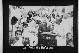 Gandhi and Nehru and refugees from the partition