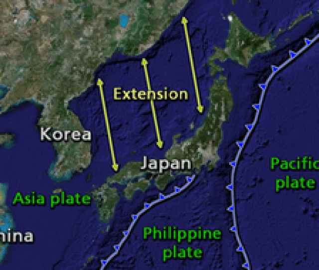The Islands Comprising The Japanese Archipelago Were Separated From Mainland Asia By Back Arc Spreading