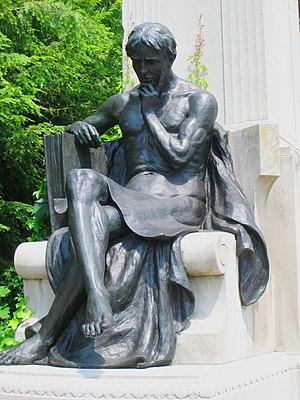 English: Johns Hopkins Monument, Johns Hopkins...
