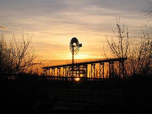 Landschaftspark Duisburg-Nord - Wind wheel in ...