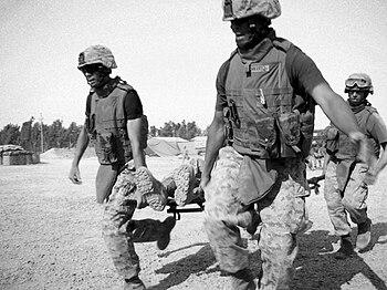 English: Marines of Regimental Combat Team 5, ...