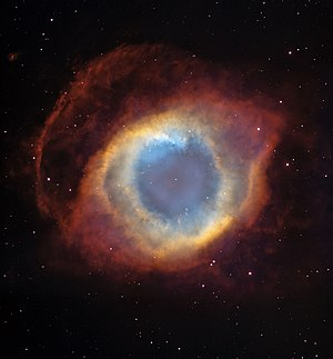 The Helix Nebula is being created by a star ev...