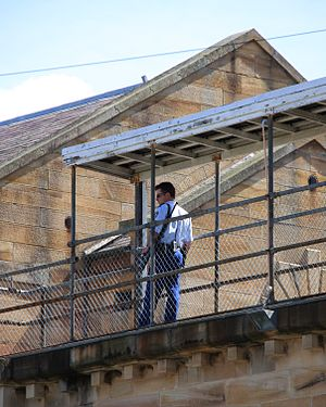 English: Prison guard at Parramatta Correction...