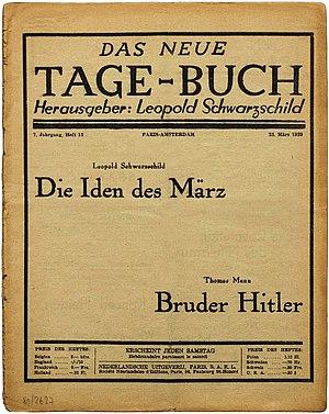 Thomas Mann Bruder Hitler 1939