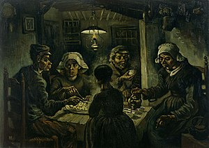 The Potato Eaters (1885), by Van Gogh; realist...