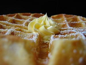 Belgian waffle I had over at Blue Bottle Cafe.