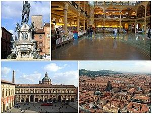Italiano: Collage di varie foto di Bologna
