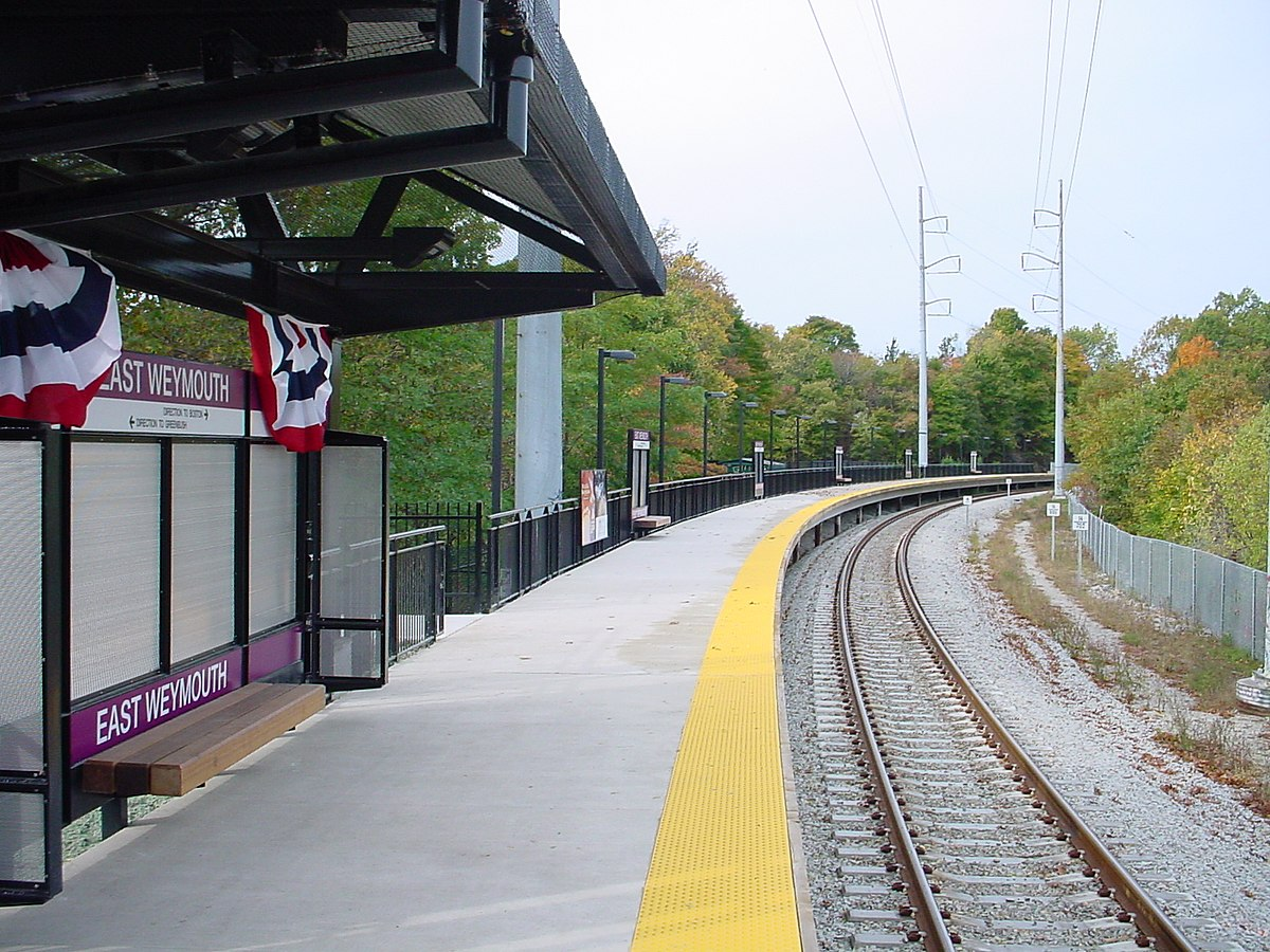 Rail Station South Mbta Commuter