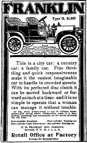 Franklin Type G, $1,800. This is a city car, a...