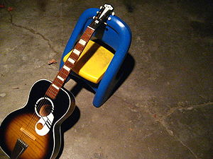 KAY acoustic guitar on chair