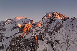 Česky: Nejvyšší vrchol Dolomit Marmolada při z...