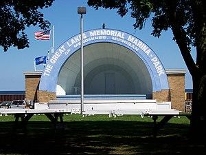 The Great Lakes marina park at Menominee, Mich...