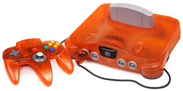 Transparent Orange N64 and Controller