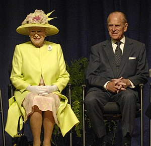 Queen Elizabeth II and Prince Philip visiting ...